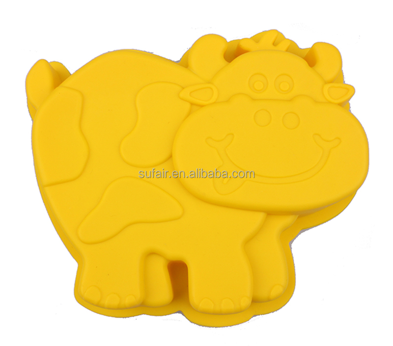 Birthday party Decorations 8 inch rhinoceros shaped silicone cake molds