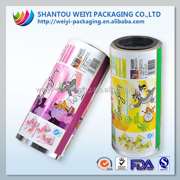 Fresh-keeping aluminum foil automatic hot laminating film for food