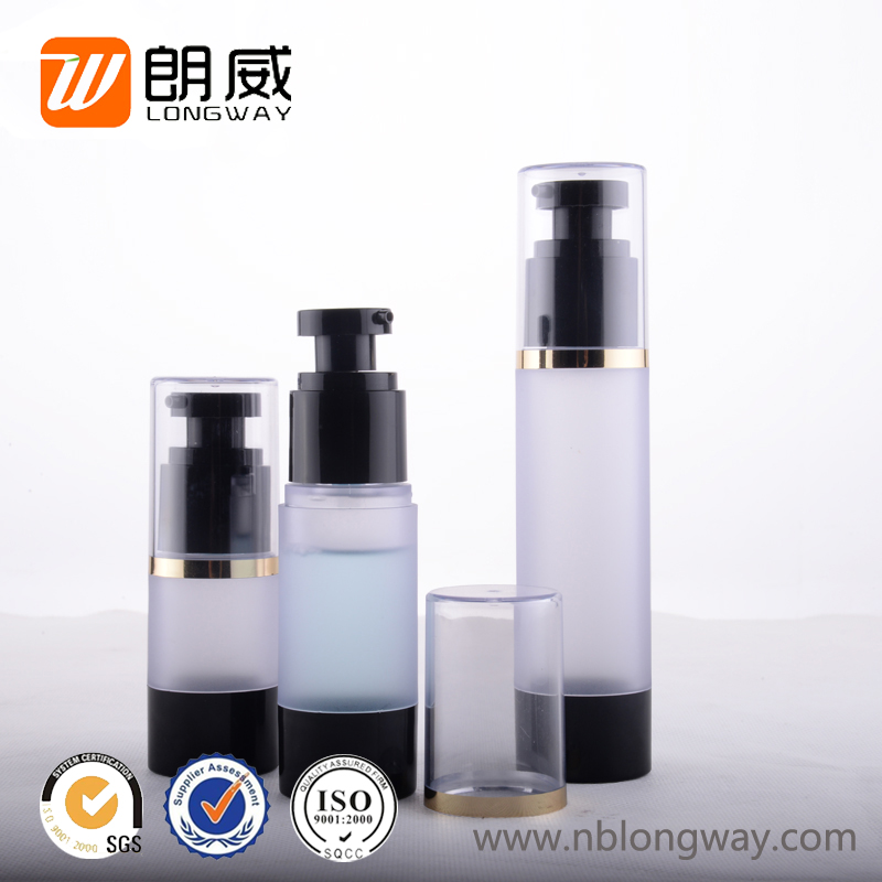 15ml 30ml 50ml custom made spray dispenser pump cosmetic plastic black airless bottle