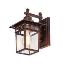 Outdoor Glass Waterproof Wall lamp Antique Outdoor Wall Lighting American Retro Balcony Aisle Wall Lamp