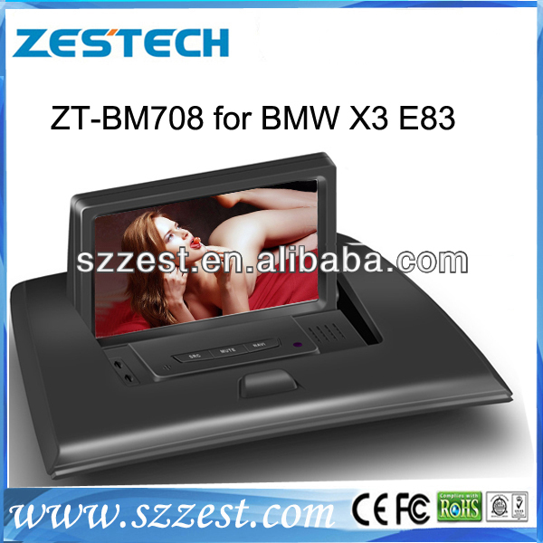 ZESTECH two din Car DVD Player With TV/AM/FM/Bluetooth/USB/SD CARD/GPS for BMW X3 OLD