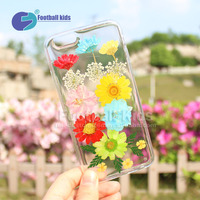 2016 New custom transparent pc cases for iphone 6 6s 6plus printed with flowers, No MOQ
