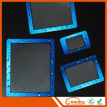 funny plastic waterproof photo frame Decoration wood natural photo frame with high quality