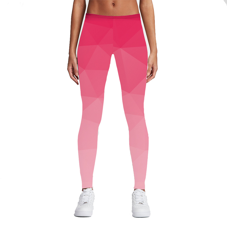 2017 New Pink Geometry Leggings Printing Legging High Elastic Fitness Legging Sexy Trousers Push Up Women Pants