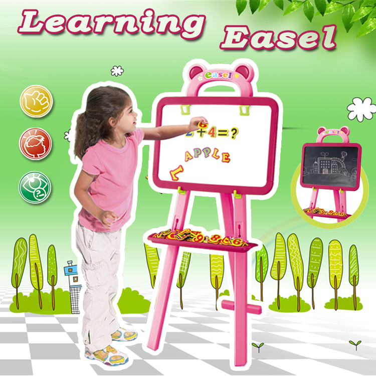 3IN1 Learning Toy Drawing Board Stand Learning Easel For Kids