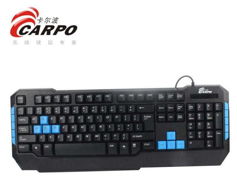 F11001 CARPO T101M Wired 113 Keys Gaming Keyboard PS/2 Round Interface Desktop Computer PC Accessories + FreePost