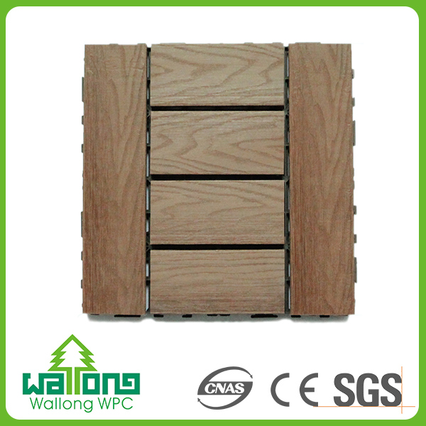 Wear-resistant co extrusion wpc diy board wood plastic composite decking
