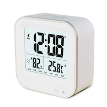 Mini digital table thermometer clock with calendar and temperature for promotion gifts