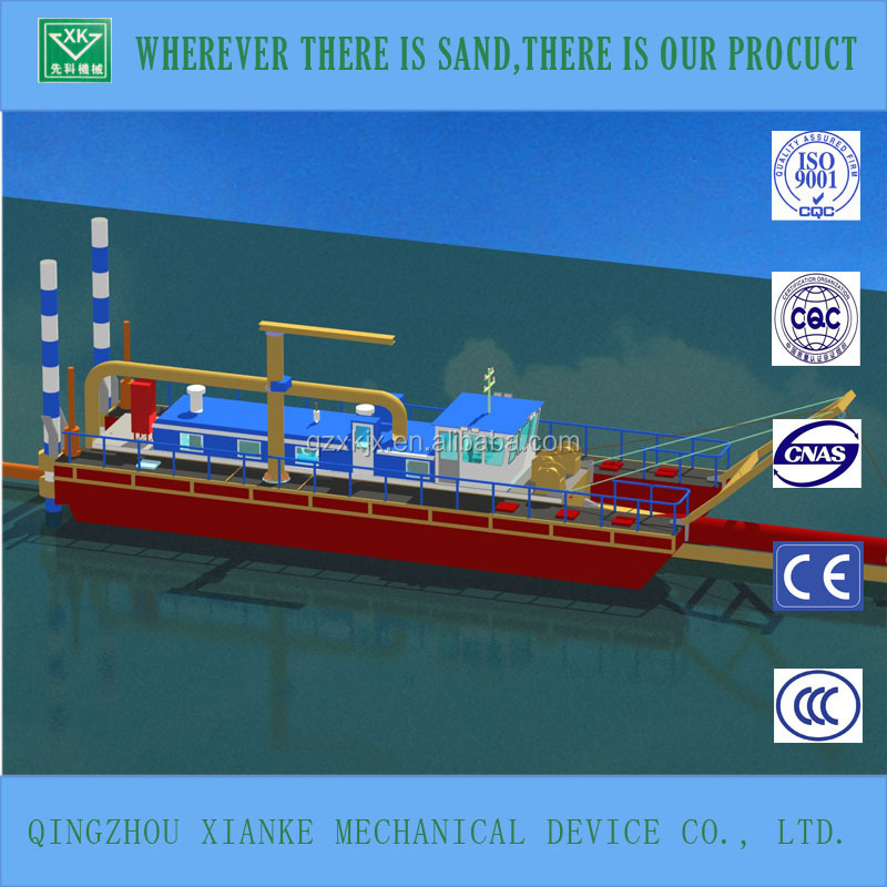 Diesel small sand dredging boat, equipment, machine, ship, vessel