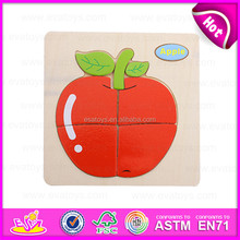 2015 Novelty wooden puzzle toy educational toy,Magnetic puzzle for kids,Apple design wooden puzzle game toy for children W14C093