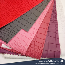 High perfermance soft hand-feeling pvc raw material sofa leather