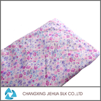Hot sale polyester flower printed fleece fabric