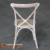 Gold Supplier Cheap Lime Wash Wooden Cross Back Dining Chairs Factory