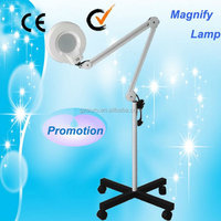 (Au-662) floor stand Light head magnifying glass lamp magnifier with light stand
