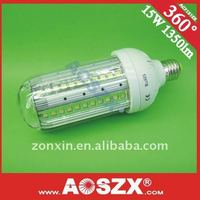 2012 New! DC 12V 15W LED Corn light bulbs 1500LM E27 e40 LED corn bulb yard landscape light AUMINUM alloy+48hours test
