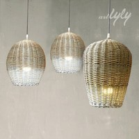 2014 hot sale wicker lamp shade wholesale