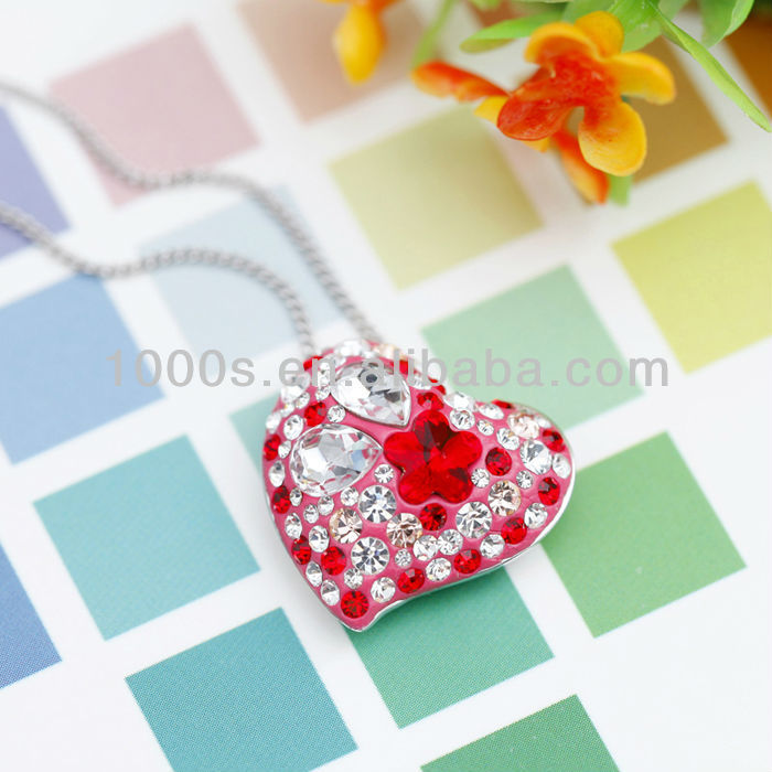 Crystal Heart Pendant Crystal Jewelry for Christmas Gifts