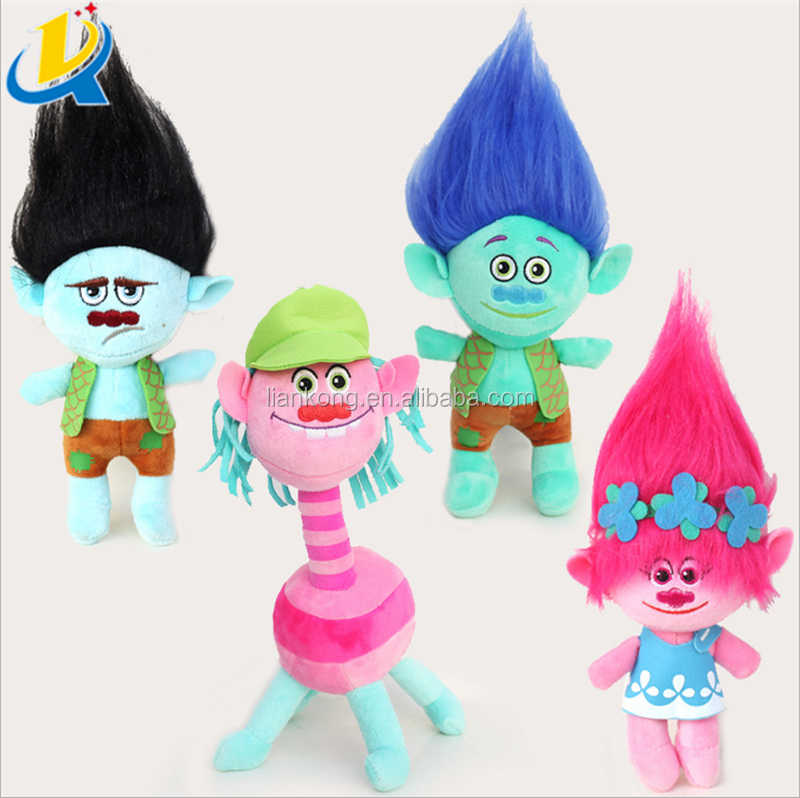 Trolls doll soft stuffed pp cotton wholesale cute trolls figures plush toy