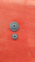 powder metal sinter parts double spur gear with steam treatment for micro gear motor