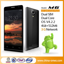new arrival M6 gps enabled satellite mtk6572 FWVGA ultra thin unlocked 3G phone