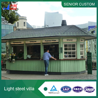 Mobile Prefabricated Fast Food Kiosk Restaurant for Sale
