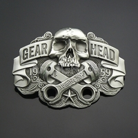 Vintage gear head belt buckle for men