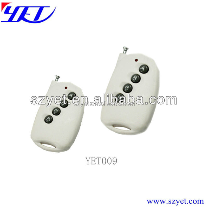 Portable remote control transmitter for car lock and garage door YET009
