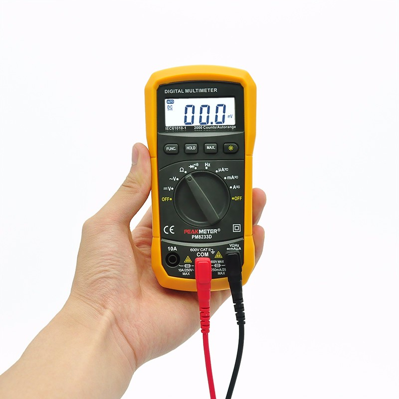 High Quality PEAKMETER Pocket Digital Tester Automotive Multimeter From China MS8233D CE RoHS