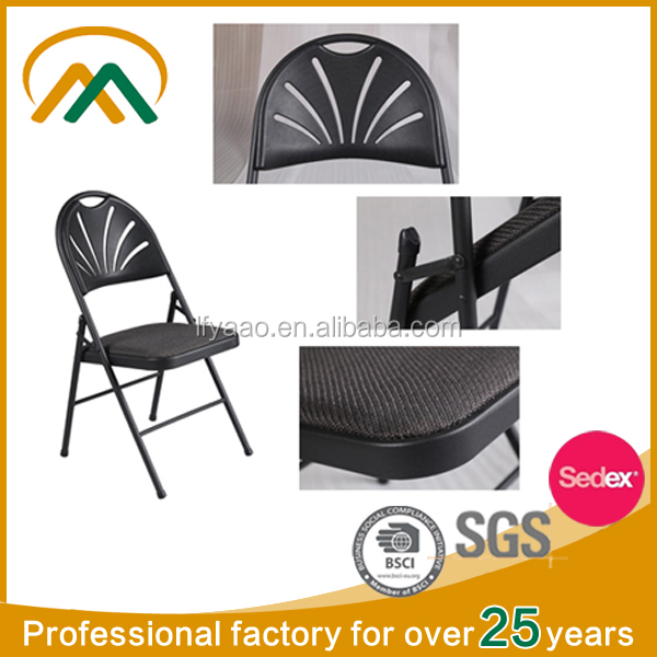 Metal frame butterfly back folding chair KP-C1309