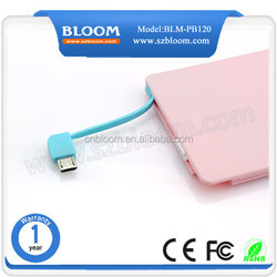 2000mAh Power Bank Charger External Battery Pack Backup Charger Micro USB Cell Phone Portable charger