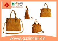 Handbag guangzhou 2016 leather bag ladies leisure tote bags in fashion