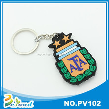 Customized newest carabiner sport souvenir soft pvc keychain