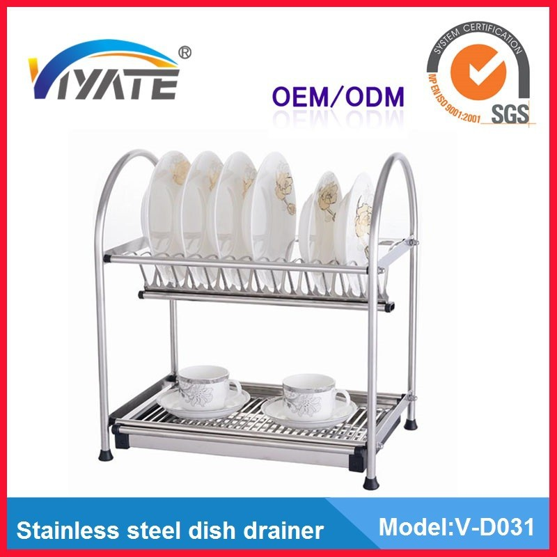 2 tier stainless steel dish drainer