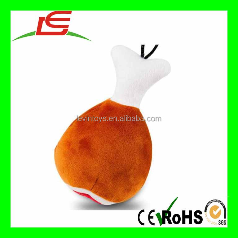 Dog Squeaky Plush Toy Pet Training Biting Chicken Leg Squeak Chew Toys