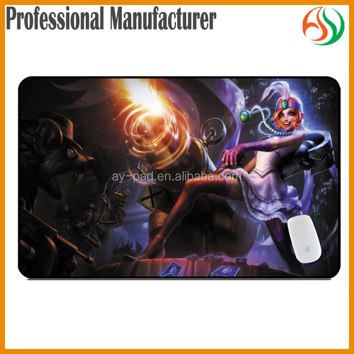 AY Jinx Mafia League of Legends LoL Gamer Geek Gaming Mouse Pad Online Card Game, Gamer Play Mat, Trading Card Game Yu Gi Oh