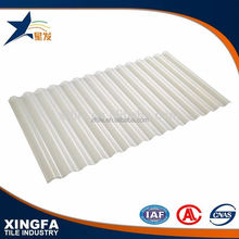 Anti-UV transparent corrugated flexible lightweight plastic roofing material