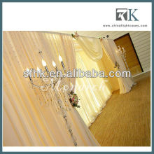 Special event pipe and drape curtains for decoration