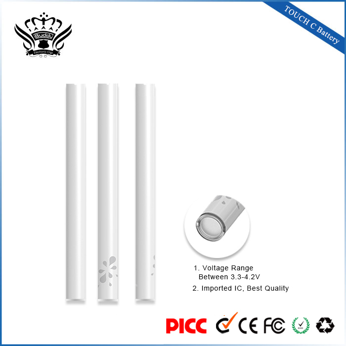 Voltage Adjustable 280mAh Pre-heating Touch Sensor no wick e-cigarette Battery for 510 Atomizers