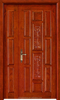 Main entry double solid wood master-subfile door YHA-1114