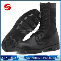 genuine leather black army boots/army combat boots