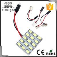 Cool White 5730 15SMD Led Panel Dome Light Lamp Car Map Light DC 12V With T10 / BA9S / Festoon Adapters