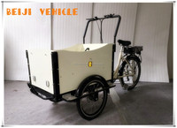 Aluminum alloy family use shopping body open three wheel cargo trike