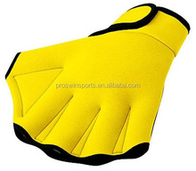 Colorful neoprene adjustable swimming gloves