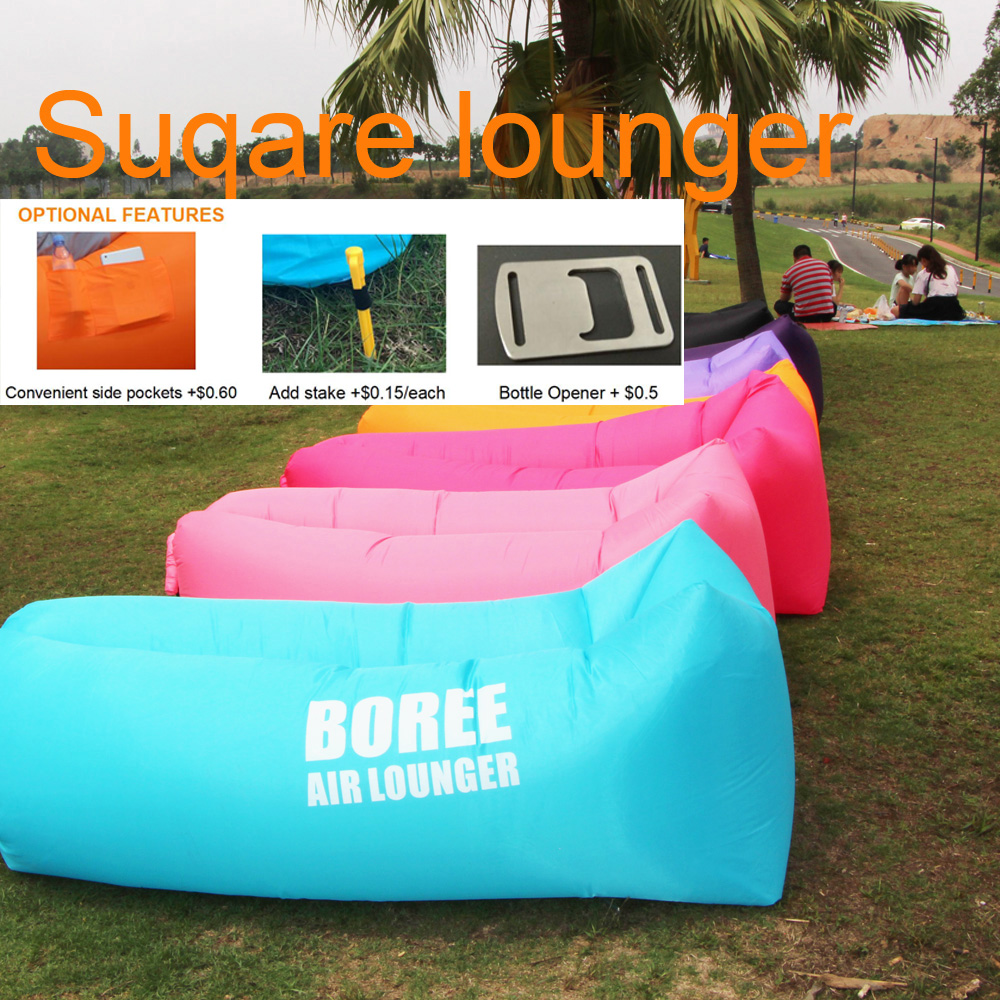 Wholesale Bulk Stock Cheap Air Couch Bed Inflatable self inflating bean bag