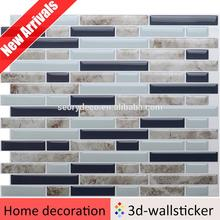 New coming easy decor waterproof plastic wall tiles for bathroom washing base