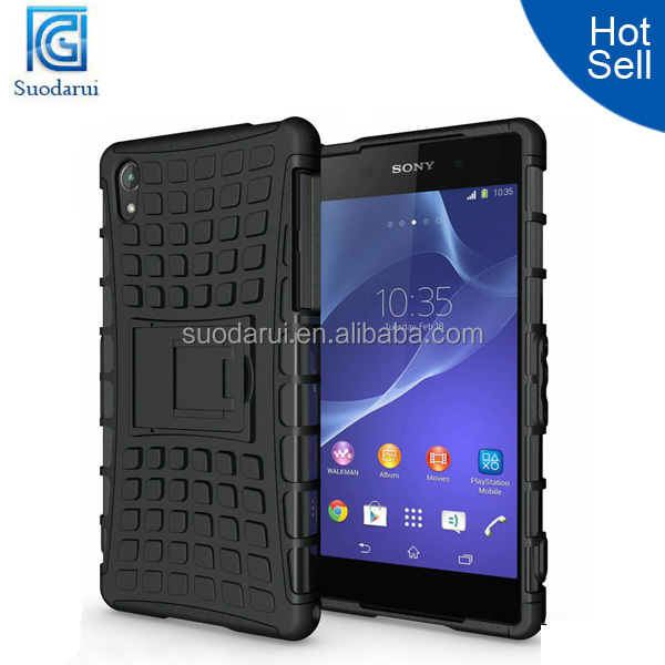 Heavy Duty Tough Shockproof With Stand Hard Case Cover For Sony Xperia Z2 Mix color