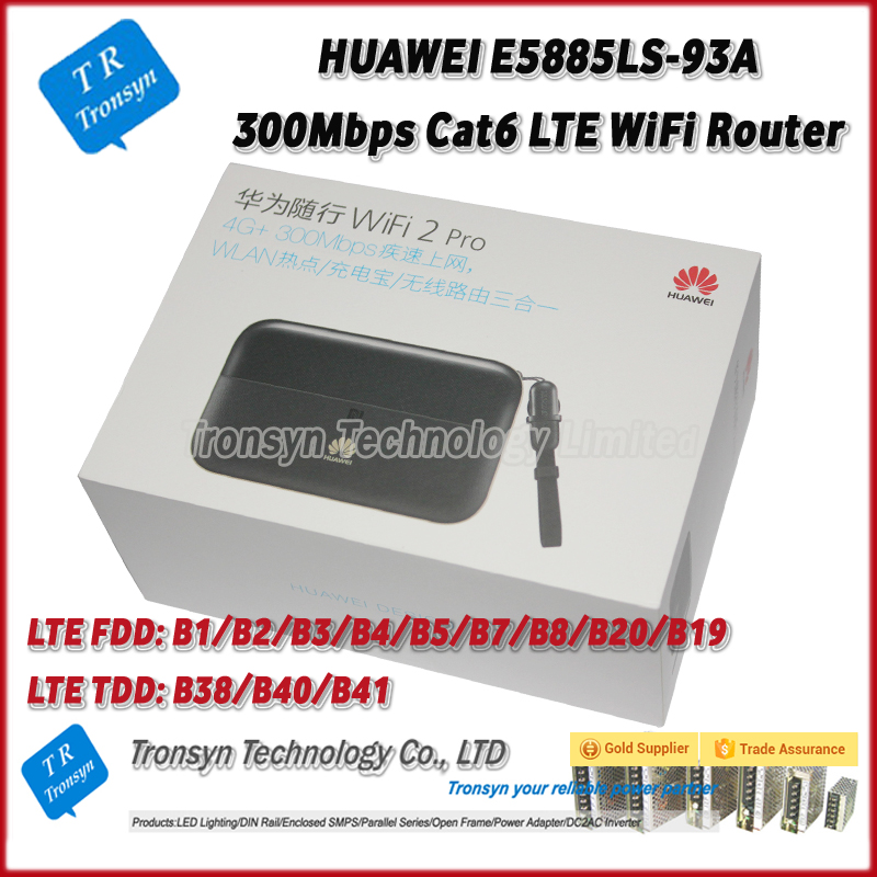 CAT6 300Mbps 6400Mah Unlock 3G 4G Router With Sim Card Slot Support B1 B2 B3 B4 B5 B7 B8 B20 B19 For HUAWEI E5885LS-93A
