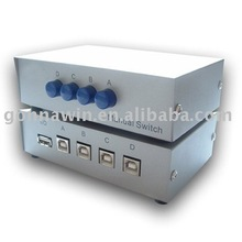 Manual USB 2.0 Switch 4 Port