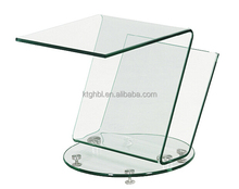 glass coffee table with wheels bending glass table furniture