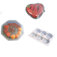 Customizde good wholesale plastic packing box for fruit,plastic cookies tray